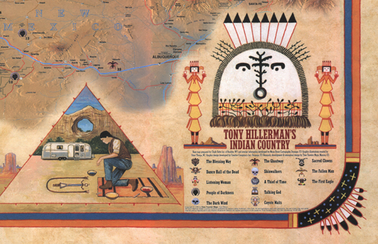 Tony Hillerman's Indian Country Map detail